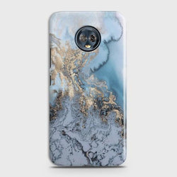 Motorola Moto G6 Plus Golden Blue Marble Case