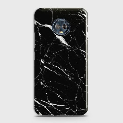 Motorola Moto G6 Plus Trendy Black Marble  Case