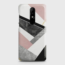 NOKIA 3.1 PLUS Geometric Luxe Marble Case