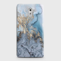 NOKIA 3 Golden Blue Marble Case