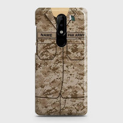 Nokia 5.1 Plus (Nokia X5) Army Costume With Custom Name Case