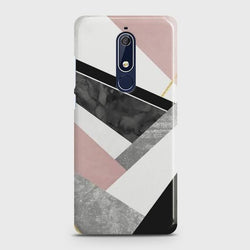 NOKIA 5.1 Geometric Luxe Marble Case