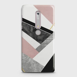 NOKIA 6.1 Geometric Luxe Marble Case