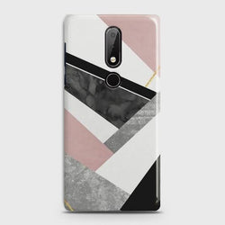 NOKIA 7.1 Geometric Luxe Marble Case