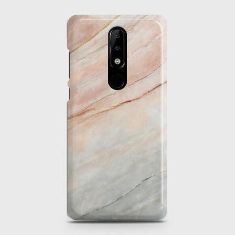 Nokia 3.1 Plus Smoked Coral Marble Case
