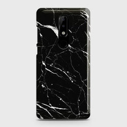 Nokia 3.1 Plus Trendy Black Marble Case