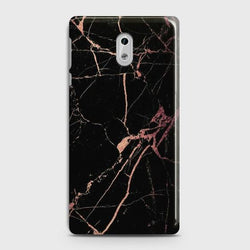 Nokia 3 Black Rose Gold Marble  Case