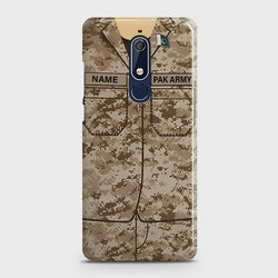 Nokia 5.1 Army Costume With Custom Name Case