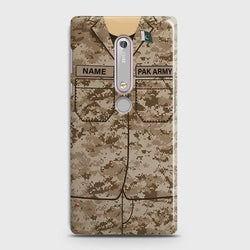 Nokia 6.1 Army Costume With Custom Name Case