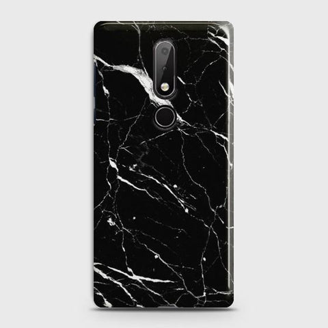Nokia 7.1 Trendy Black Marble Case