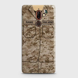 Nokia 7 Plus Army Costume With Custom Name Case