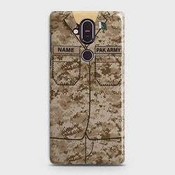Nokia 8.1 Army Costume With Custom Name Case