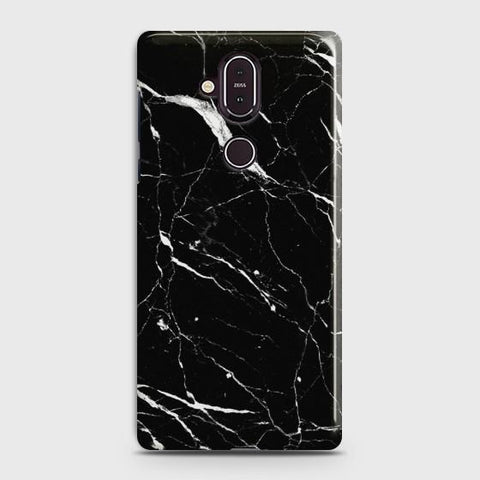 Nokia 8.1 Trendy Black Marble Case