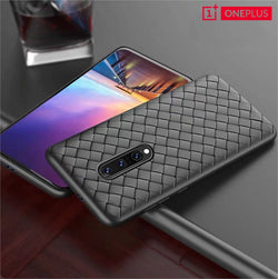 Leather Feel Mesh Shock Proof Case For OnePlus Models