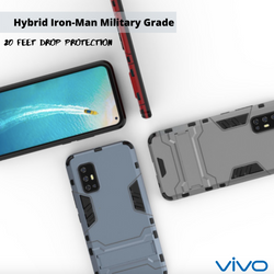 Hybrid iron man full protective cover+kick Stand for VIVO