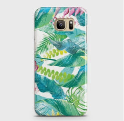 SAMSUNG GALAXY S7 Edge Retro Palm Leaves Case