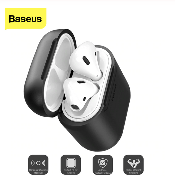 Baseus Qi Wireless Charging Case For Airpods Anti-Knock Silicone Protective Cover