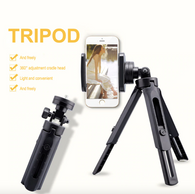 PORTABLE MOBILE PHONE, DSLR, GOPRO HORIZONTAL AND VERTICAL TRIPOD WITH HOLDER