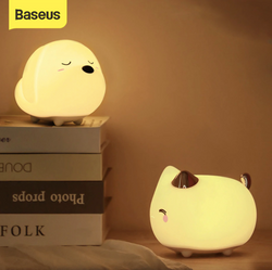 Baseus Rechargeable Night Light Touch Sensor Side Lamps Cat & Dog Styles