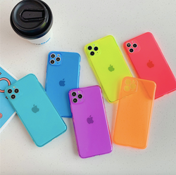 Buy 1 Get 1 Free iPhone fluorescent Shockproof transparent soft case