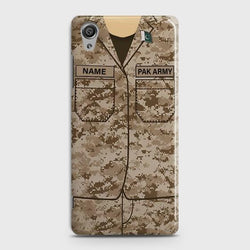 Sony Xperia XA1 Plus Army Costume With Custom Name Case