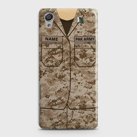 Sony Xperia XA Army Costume With Custom Name Case