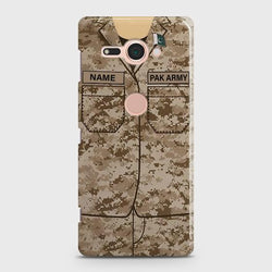 Sony Xperia XZ 2 Compact Army Costume With Custom Name Case