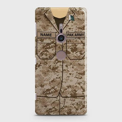 Sony Xperia XZ 3 Army Costume With Custom Name Case