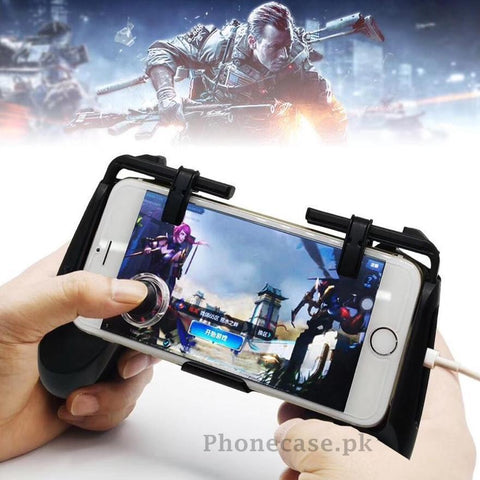 4 in 1 Mobile Game controller with Joystick For PUBG & Other Games - Phonecase.PK