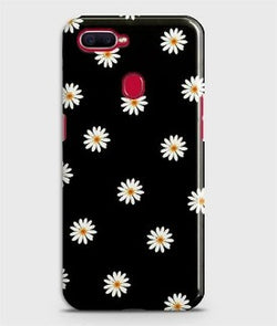 REALME 2 Pro White Bloom Flowers with Black Background Case