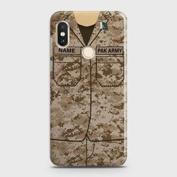 Xiaomi Mi A2 Lite/ Mi 6 Pro Army shirt with Custom Name Case