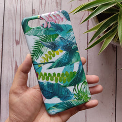 Oppo A3s Retro Palm Leaves Case C-028