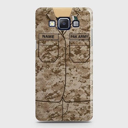 Samsung Galaxy A5 2015 Army shirt with Custom Name Case