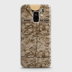 Samsung Galaxy A6 Army shirt with Custom Name Case
