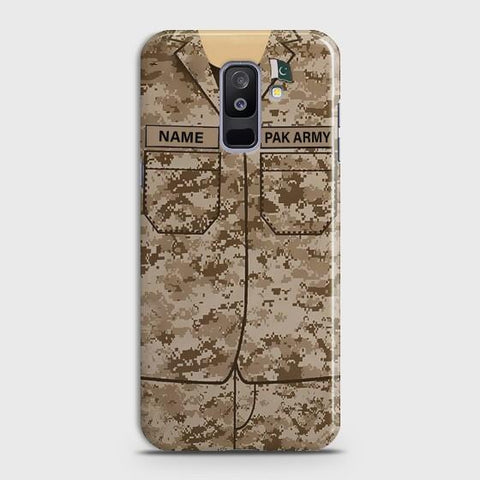 Samsung Galaxy A6 Plus Army shirt with Custom Name Case