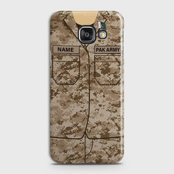Samsung Galaxy A7 2016 Army shirt with Custom Name Case