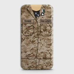 Samsung Galaxy A7 2017 Army shirt with Custom Name Case