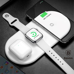 Baseus Original Wireless fast Charger 3 in 1 for iPhone Android Apple Watch AirPods