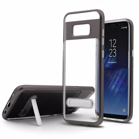Best Transparent Frame Bracket Kickstand For Samsung Galaxy S8 & S8 Plus - Phonecase.PK