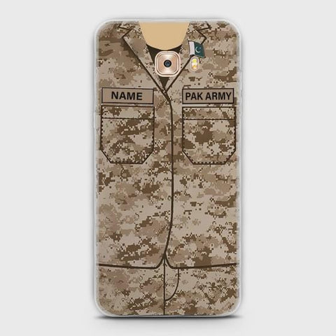 Samsung Galaxy C5 Pro Army shirt with Custom Name Case