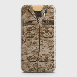 Samsung Galaxy C7 Army shirt with Custom Name Case