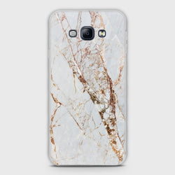 SAMSUNG GALAXY A8 White & Gold Marble Case