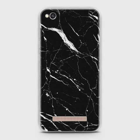 Xiaomi Remi 4A Trendy Black Marble design Case