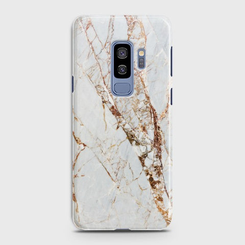 SAMSUNG GALAXY S9 plus White & Gold Marble Case