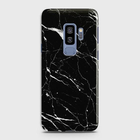Samsung Galaxy S9 Plus Trendy Black Marble design Case