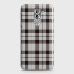 HUAWEI HONOR 6X Check Pattern White Case
