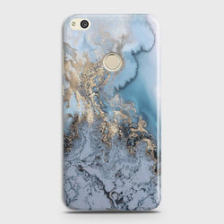 HUAWEI HONOR 8 LITE Golden Blue Marble Case