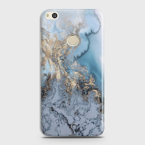 official photos 3cfc8 689af HUAWEI HONOR 8 LITE Golden Blue Marble Case