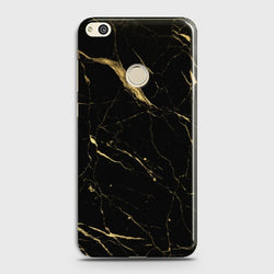 HUAWEI HONOR 8 LITE Classic Golden Black Marble Case