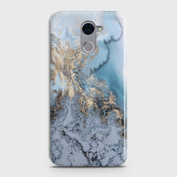 HUAWEI Y7 PRIME Golden Blue Marble Case